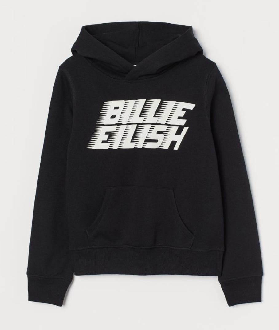Kids / Teen Billie Eilish Hoodie Now £8 Free delivery for members @ H&M