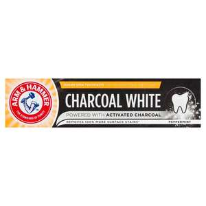 Arm & Hammer Charcoal White Toothpaste Peppermint 75ml £1.50 at Morrisons