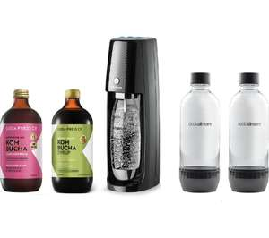 SODASTREAM One Touch Sparkling Water Maker & Kombucha Concentrate Bundle £69 Currys PC World