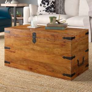 Three Posts Balic trunk coffee table made from solid acacia wood for £151.99 delivered @ Wayfair
