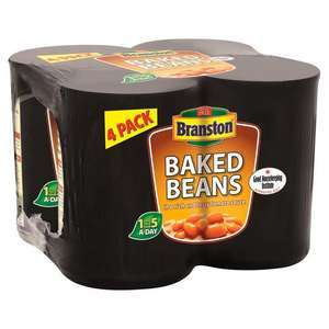 Branston Baked Beans 4 x 410g £1 with code (+ Delivery Charge / Min Spend Applies) @ Iceland