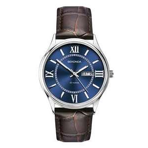Sekonda Men's Brown Leather Strap Watch - £15.18 (Free Collection) + £1.99 For Delivery With Code @ H Samuel