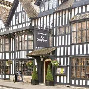 Room for 2 with Breakfast at 4* Mercure Stratford-upon-Avon Shakespeare Hotel £62 using code (refundable) @ Groupon