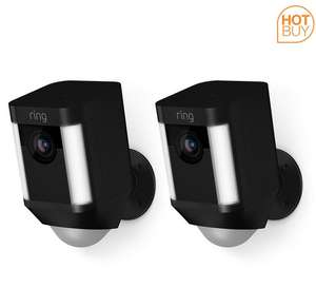 Ring Battery Spotlight Camera Duopack in Black - 2 Pack £224.89 at Costco