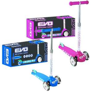 EVO: Light UP Move N Groove Scooter - Pink, or Blue now £16.99 (+£3.49 UK mainland delivery) @ Home Bargains