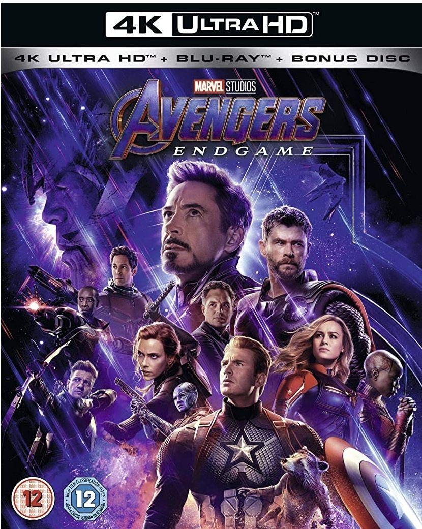 Avengers endgame 4k blu ray £14.99 prime / £17.98 non prime @ Amazon
