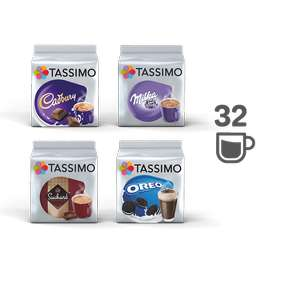 Tassimo pods hot chocolate bundle - 4 packs £13 + £2.99 delivery