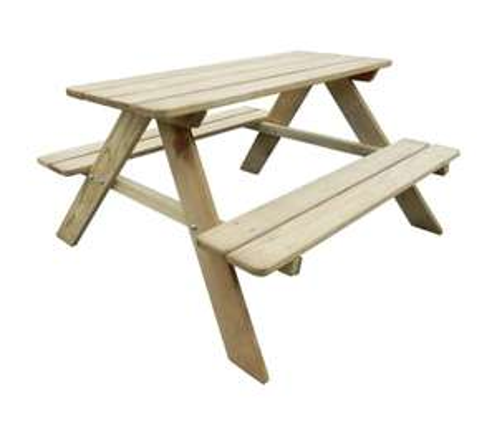 VidaXL kid's pinewood picnic table (89 x 89.6 x 50.8 cm) for £33.99 delivered @ VidaXL