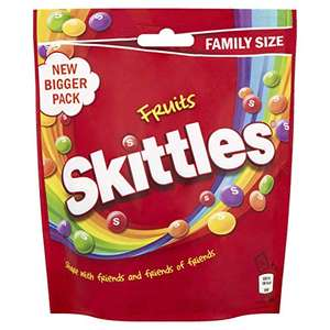 Skittles Sweets, Fruit Chewy Sweets Family Size Pouch 196g - £1 prime / £5.49 nonPrime @ Amazon
