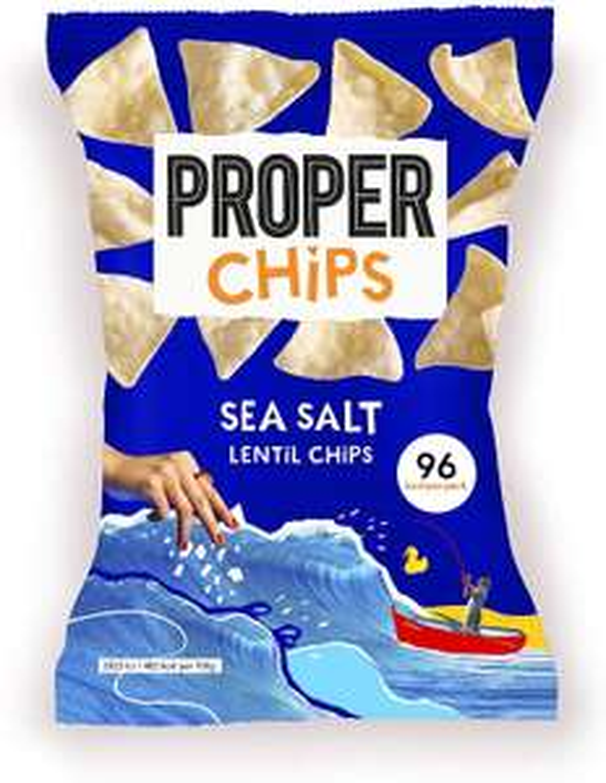PROPER Chips Sea Salt Sharing, 8 x 85g, £1.99 Prime / +£4.49 non prime at Amazon