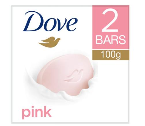 Dove pink bar soap 2 x 100g 30p @ Asda sealand road Chester