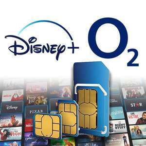 O2 Sim Only - 100GB Data, Unlimited Minutes and Texts + 6 Months Free Disney+ £18pm (12 month - £216) @ O2