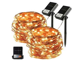 KooPower Solar and Battery Dual Powered Fairy Lights, 100 LEDs 10m £6.99 prime / £11.98 non prime Sold by Aloici and Fulfilled by Amazon
