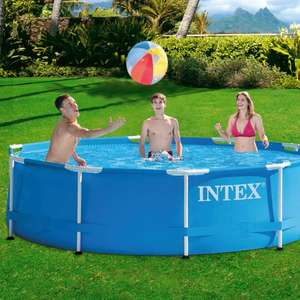 Intex 28202UK 10ft x 30in Metal Frame Swimming Pool with Filter Pump, 4500 liters, Blue, 305x76 cm - £93.72 @ Amazon