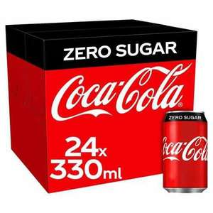 Coke Zero 24 x 330ml Can Boxes are £6.50/£5.85 With Totum Student Card @ The Co-Op UK Mainland