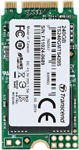 Transcend 240GB SATA III 6Gb/s MTS420S 42mm M.2 SSD420S Solid State Drive £34.97 at Amazon