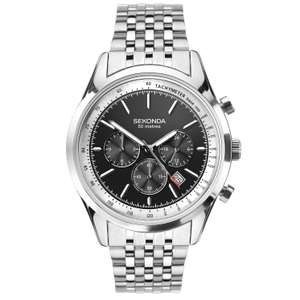 Sekonda Chronograph watch on stainless steel bracelet now just £27.99 with code at H Samuel