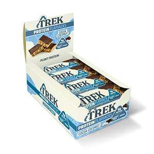 TREK High Protein Flapjack Cocoa Coconut 50g - Pack of 16 £9.60 (£8.16 S&S) + £4.49 Non-Prime @ Amazon