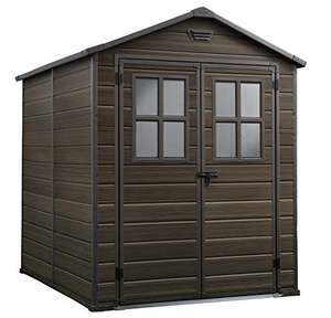 Keter Scala Outdoor Plastic Garden Storage Shed, Brown, 6 x 8 ft £599.99 @ Amazon