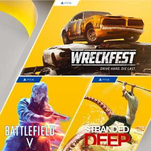 PS Plus Games (May 2021) - Wreckfest (PS5), Battlefield V (PS4), Stranded Deep (PS4)