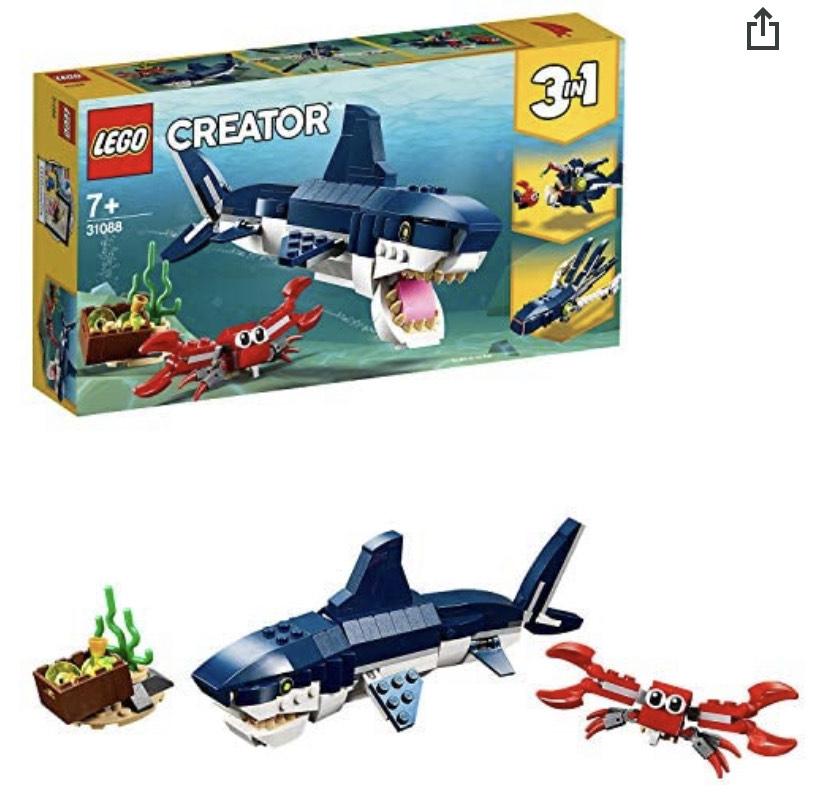 LEGO Creator 31088 Deep Sea Creatures £7.98 /+ £4.49 nonPrime @Amazon