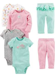 Baby girl's bodysuits & leggings 6 piece set size 24 months now £13.85 (for Prime members with code) at Amazon