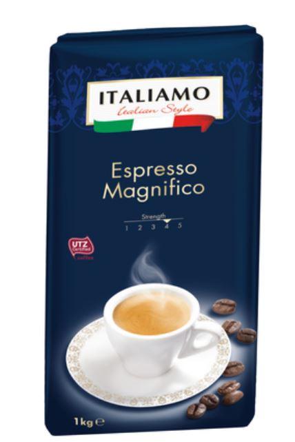 ITALIAMO Espresso Magnifico Coffee Beans 1kg at 4.99 _ LIDL