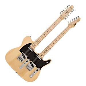 Knoxville Double Neck Guitar (12 and 6 string) by Gear4music, Natural for £202.48 delivered at Gear4Music