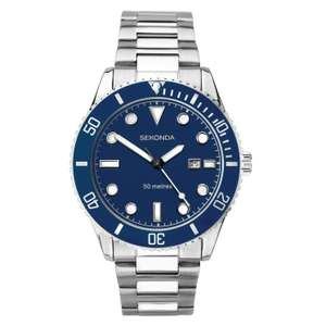 Sekonda stainless steel sports watch with date for just £19.58 with code at H Samuel