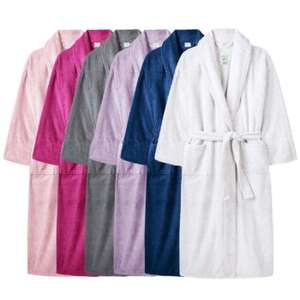 One Size Terry Towelling Bath Robe - £10 delivered @ Weekly Deals 4 Less