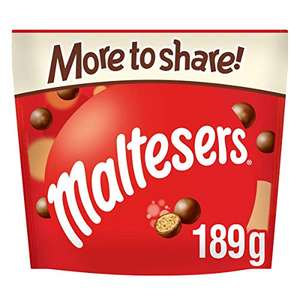 10x Maltesers More To Share Pouches 189g - £13.89 Delivered (Selected areas) @ Amazon Prime Now