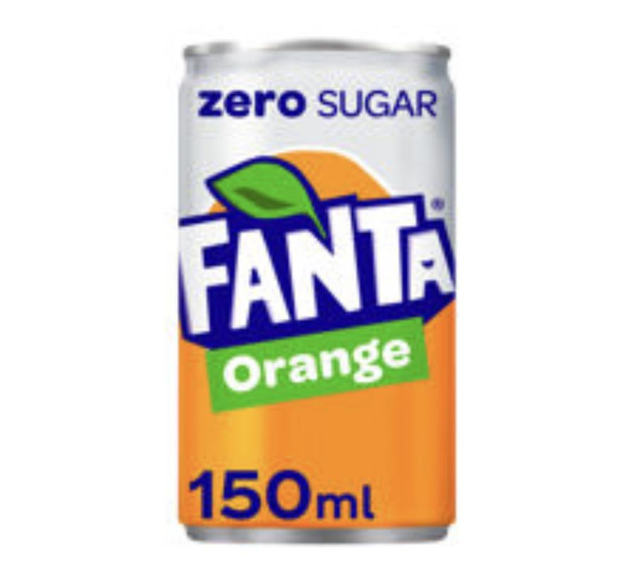 Fanta Orange Zero Sugar, 150ml cans - 15p Instore @ Asda (Queensferry)