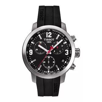 Tissot Prc200 Men's Stainless Steel Black Rubber Strap Watch £233.75 @ Ernest Jones