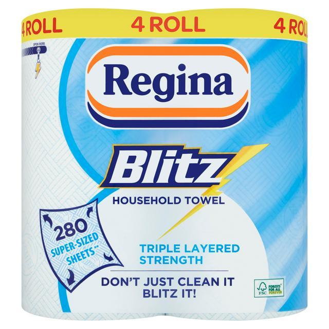 Regina Blitz Household Towel Roll x4 £4.50 at Sainsbury's