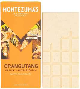 Montezuma's Orangutang White Chocolate with Orange and Butterscotch Gluten Free and Organic 90g - £1.85 Prime + £4.49 Non Prime @ Amazon