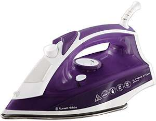Russell Hobbs Supreme Steam Traditional Iron 23060, 2400 W, Purple/White - £13.45 (+£4.49 Non-Prime) @ Amazon