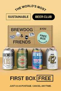 8 Free Beers when you sign up to BrewDog Monthly Membership - £3.95 delivery @ BrewDog + £3.08 TopCashback