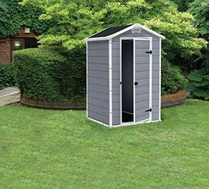 Keter Manor Outdoor Plastic Garden Storage Shed, Grey, 4 x 3 ft £199 at Amazon