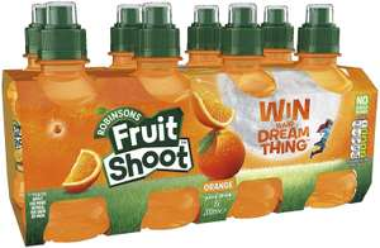 Robinsons Fruit Shoot Fruit Juice Orange, 8x200ml £1.75 (£4.49 p&p non prime) 20% voucher and 10% s&s £1.22 @ Amazon