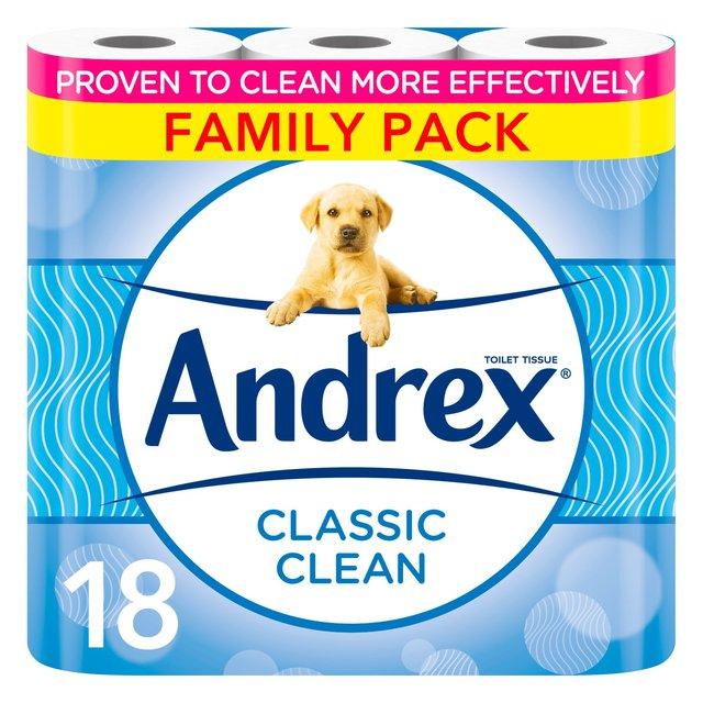 Andrex Classic Clean Toilet Tissue 18 per pack £7 @ Morrisons