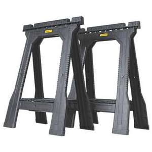 Stanley Folding Junior Saw Horses 57.1cm 2 Pack - £19.99 (Free click and collect) @ Screwfix