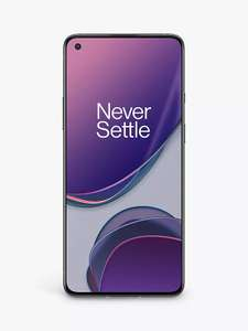 "OnePlus 8T Smartphone, Android, 8GB RAM, 6.55"", 5G, SIM Free, 128GB, Lunar Silver - £399 @ John Lewis & Partners"