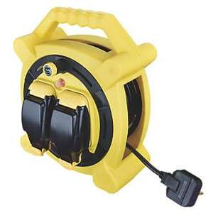 Masterplug 13A 2-Gang 20m Cable Reel 240V Weatherproof IP54 - £27.99 (Free click & collect / £5 Delivery) @ Screwfix