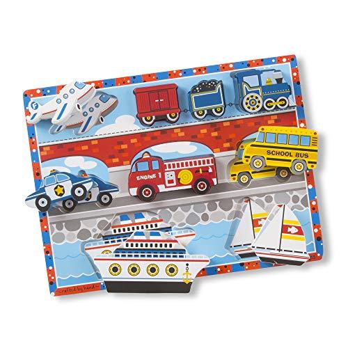 Melissa & Doug Vehicles Chunky Puzzle £5.30 (Prime) + £4.49 (non Prime) at Amazon