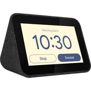 LENOVO Smart Clock with Google Assistant - Black £34 at AO