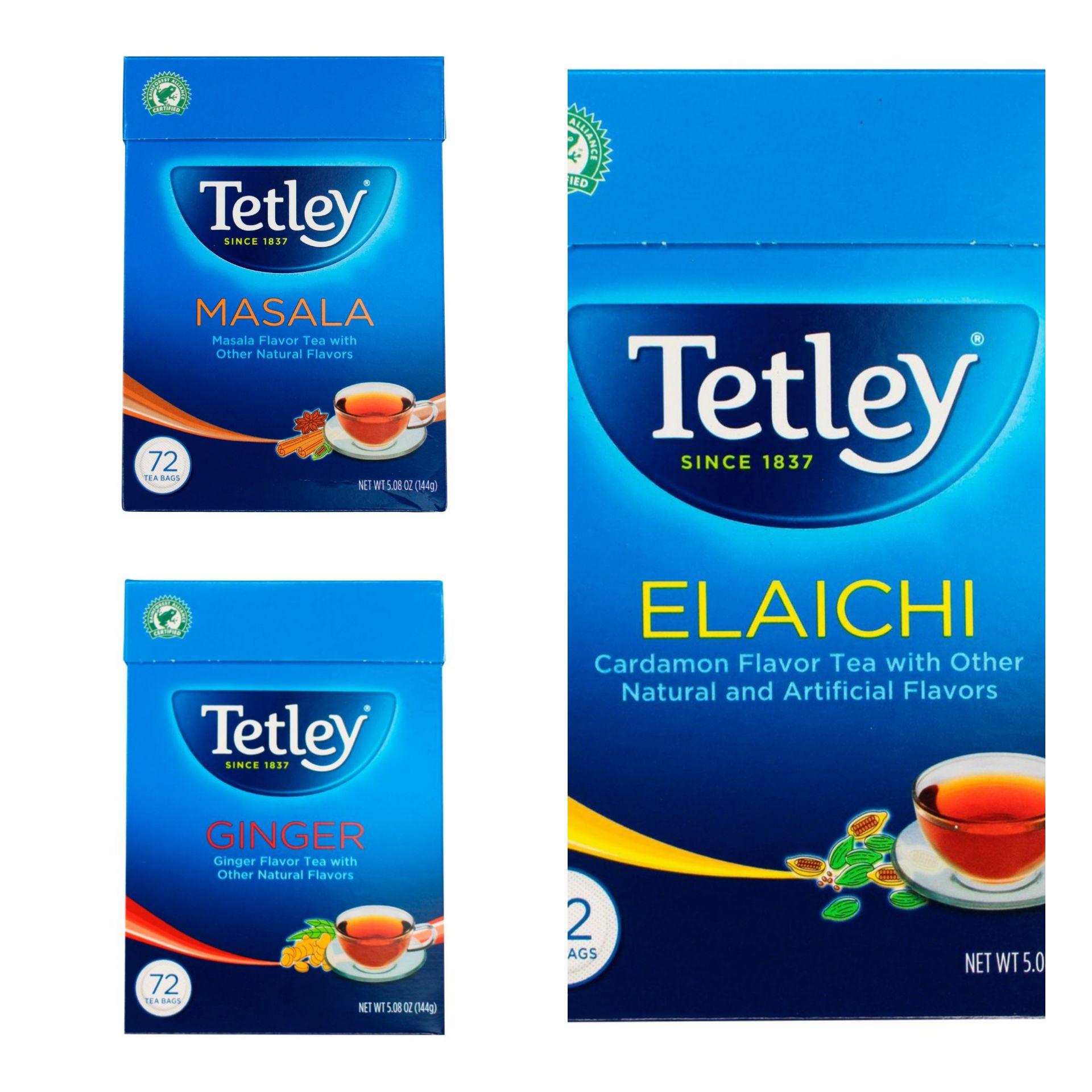 Tetley Masala / elaichi / ginger 72 Tea Bags144g - £1.50 (Minimum Basket / Delivery Fee Applies) @ Morrisons
