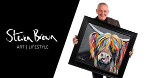 Steven Brown Art 60% OFF medium canvases - £4.99 delivery under £90 / £9.99 over Lizzie McCoo Canvas Print £28.98