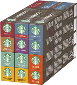 Starbucks Variety Pack 8 Flavour by Nespresso Coffee Pods (Pack of 12, Total 120 Capsules) £27.41 Amazon