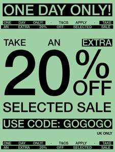 EXTRA 20% off sale items @ Urban Outfitters