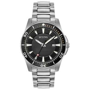 Bulova gent's stainless steel sports watch with 3 year warranty for just £59.19 with code at H Samuel